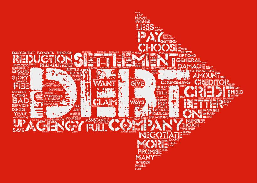 How to Choose a Better Debt Settlement Company Word Cloud Concept Text Background